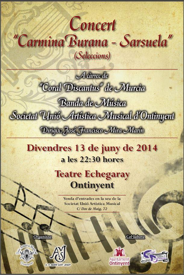 Cartell Concert de Sarssuela